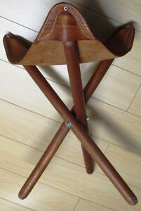Leather folding stool, Milking Stool Style, Made in COSTA RICA Stratford Kitchener Area image 8