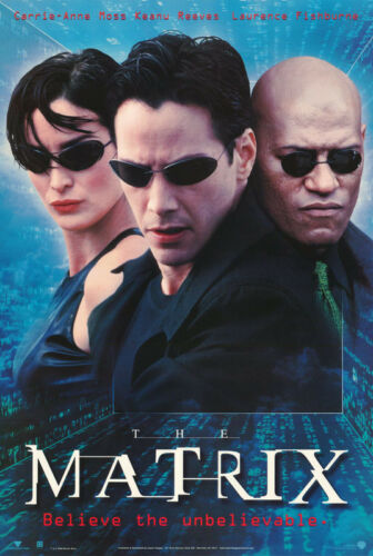 POSTERS:MOVIE REPRO: THE MATRIX   - FREE SHIPPING !    RC52 F