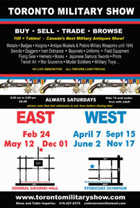 TORONTO MILITARY ANTIQUES SHOW-ETOBICOKE OLYMPIUM-SEPT.15th