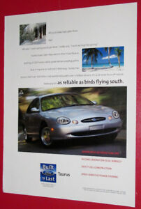 1998 FORD TAURUS SEDAN RETRO AMERICAN CAR AD - ANONCE AUTO 90S