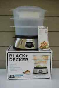 LIKE NEW Black & Decker Programmable 3-Tiered Steamer For Sale
