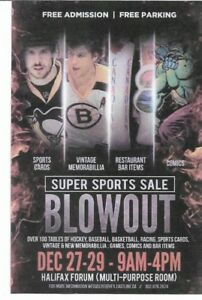 Sportscards and Memorabilia Blowout Show Halifax Dec 27 to 29