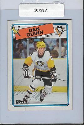 Dan Quinn 1988 Topps Autograph  41 Penguins