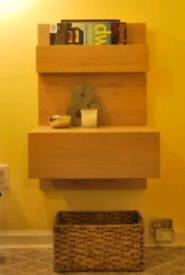 IKEA Malm Floating Nightstand Bedside Table x2
