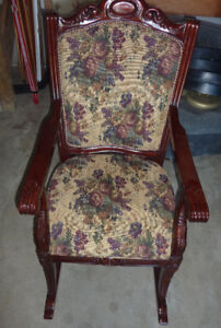 Large, very solid beautiful rocking chair, very good condition