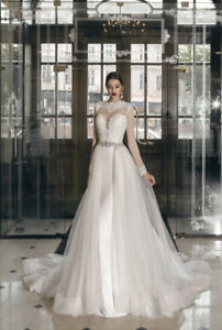 NEW BRIDAL GOWN - Long Sleeve, Removable Skirt