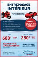Entreposage intérieur voitures et motos