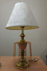 1 pair of brass lamps