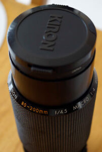 Kiron 80mm-200mm f4.5 Zoom lens with Minolta MD mount