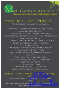 Chores or Odd Jobs Piling Up? We Can Do Them All!