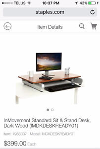 Adjustable table top computer desk with keyboard tray