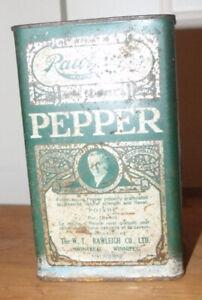 Ancienne boîte de tôle pour le poivre de marque RAWLEIGHS