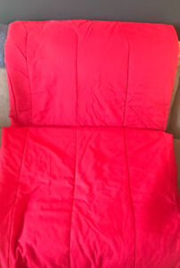 **TWIN CHERRY RED COMFORTER & SHEETS FOR SALE**
