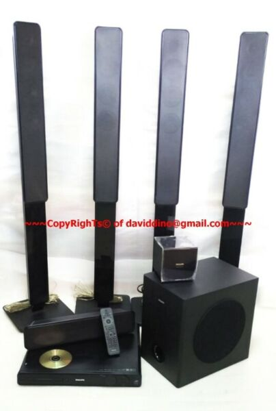 ~~~ USeD PHILIPS HTS 3678  5.1 HoMe TheaTRe SySTeM  $388 ~~~