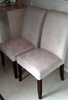 2 Parsons Chairs $20 or best offer - Free on Friday garbage day