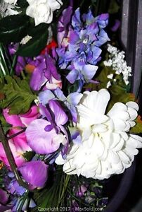Artificial flowers - 6 totes - many varieties and colours