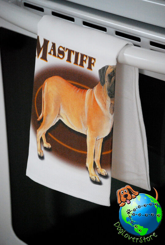 English Mastiff Kitchen Hand Towel