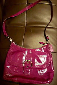 Authentic Coach Plum SOHO Patent Leather Purse and Wallet
