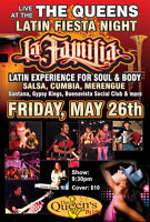 The Queens presents Latin Fiesta Night with La Familia