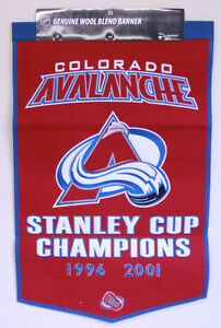 COLORADO AVALANCHE WOOL BANNERS WINNING STREAK Peterborough Peterborough Area image 2