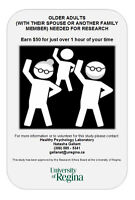 Older Adults (with a Family Member) Needed for Research Study