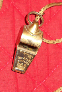 Whistle made in England.w/21'' chain.