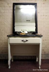 Small French provincial vanity/desk with mirror