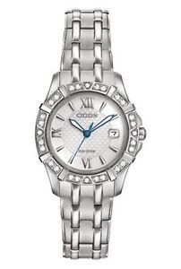 Women's 'Diamond' Quartz Stainless Steel Casual Watch (Model: EW