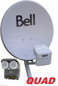One Quad bell satellite HD Dish, with 3 hd receivers $100 each.