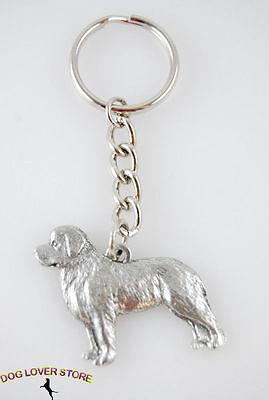 Newfoundland Keychain Fine Pewter Silver Key Chain Ring