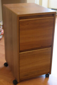 Wood finish 2 Drawer Filing Cabinet