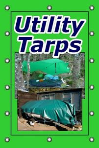 ** HEAVY DUTY GREEN UTILITY TARP- 40' BY 60' **