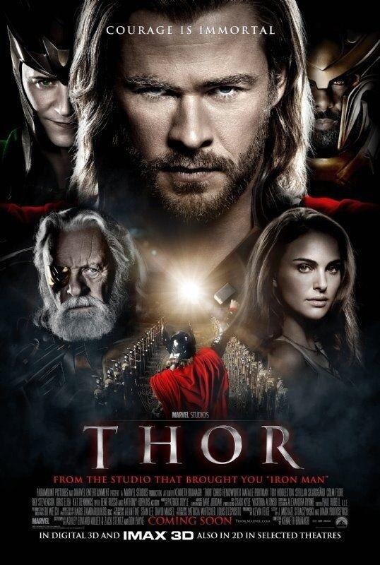 Thor Movie Poster 2 Sided Original Rare Intl Version A 27x40 Chris Hemsworth