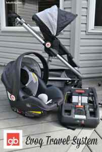GP Evoq Travel System - Sterling (Baby Car Seat) + Cuddle Bag