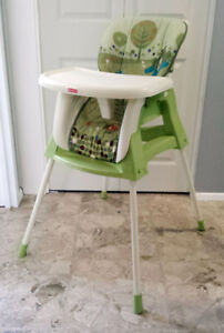convertible 4 in 1 high chair, swing, infant and toddle chair