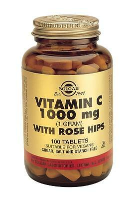 Solgar Vitamin C 1000 mg with Rose Hips (100 Tablets) # 2400