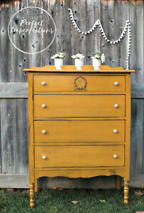 Beautifully restyled vintage dresser with stunning knobs