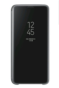Étui support Samsung S9 + clear view standing cover case