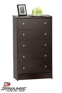 Brand New Cappuccino 5 Drawer Chest! Call 506-854-6686!