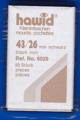 hawid 6029   50 Zuschnitte 43x26 mm schwarz