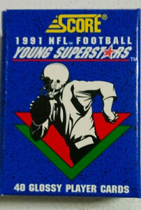1991 Score NFL Football Young Superstars Factory Set of 40 cards