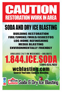 Soda and Dry Ice Blasting - Mobile 24/7 Services