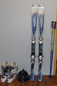 Volkl 151 cm all condition downhill skis + Boots