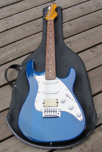 TYPHOON 'Electric Blue' Guitar with Soft Case - like new