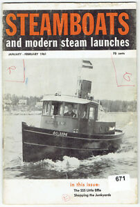 """Nine 1961/62/63 """"Steamboats and Modern Steam Launches"""" Magazines"""