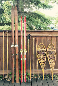 Vintage/ antique winter sports lot
