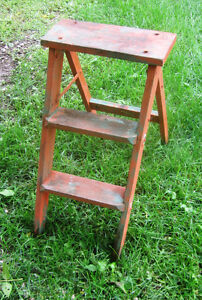Small Orange Coloured Stepladder