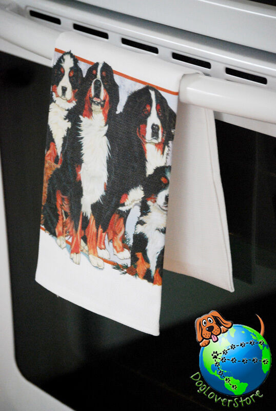 Bernese Mountain Dog Kitchen Hand Towel