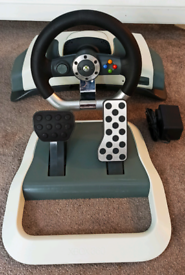 Xbox wireless steering wheel with pedals and power supply