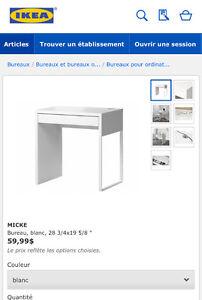 Recherche bureau Ikea Micke ou Alex